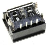 JACK-USB,4P/1C,AU,BLK,ANGLE,A