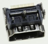 CONNECTOR-HDMI,19P,A,FEMALE,AU,0.5MM,BLK