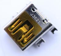 JACK-MINI USB:5P1C,AU OVER NI,BLK,MINI B